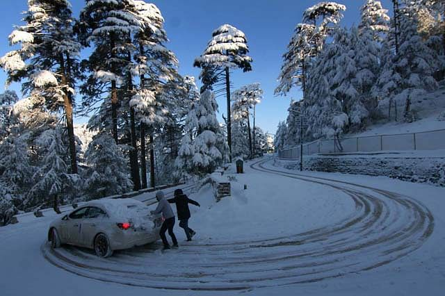 Tourists Make Merry As Snow Drapes Patnitop in White