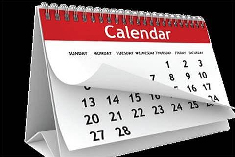 Suggested Calendars for Kashmir