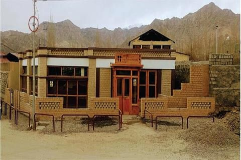 Leh town gets its first solarized public toilet