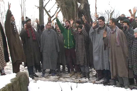 Sopore residents protest drinking water scarcity