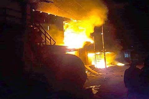 2 residential buildings, 4 shops gutted in Doda's Kahara village