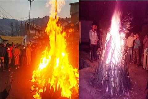 Lohri celebrated across Chenab Valley