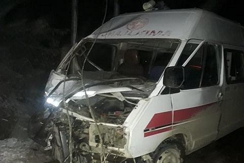 Ambulance driver among six injured in Pattan road accident