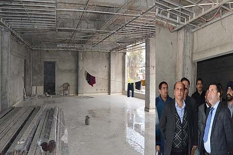 Farooq Shah inspects pace of work on upcoming Jal Bhawan