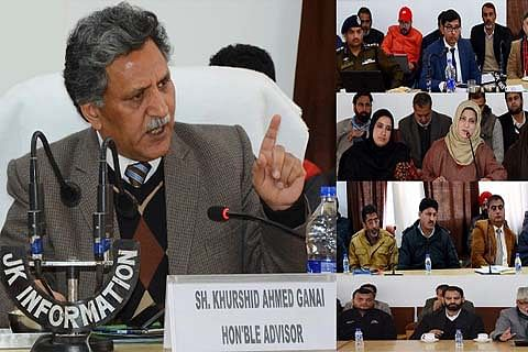 Advisor Ganai listens to people's issues at Poonch