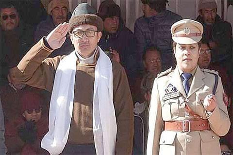 CECs Leh, Kargil hoist tricolor