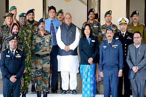 Defence study group meets Governor, to visit Srinagar today
