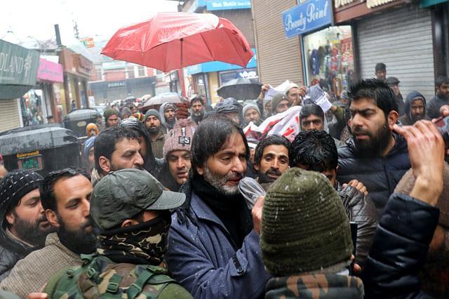 JKLF Chief Yasin Malik Among Dozens Detained During Protest In Srinagar