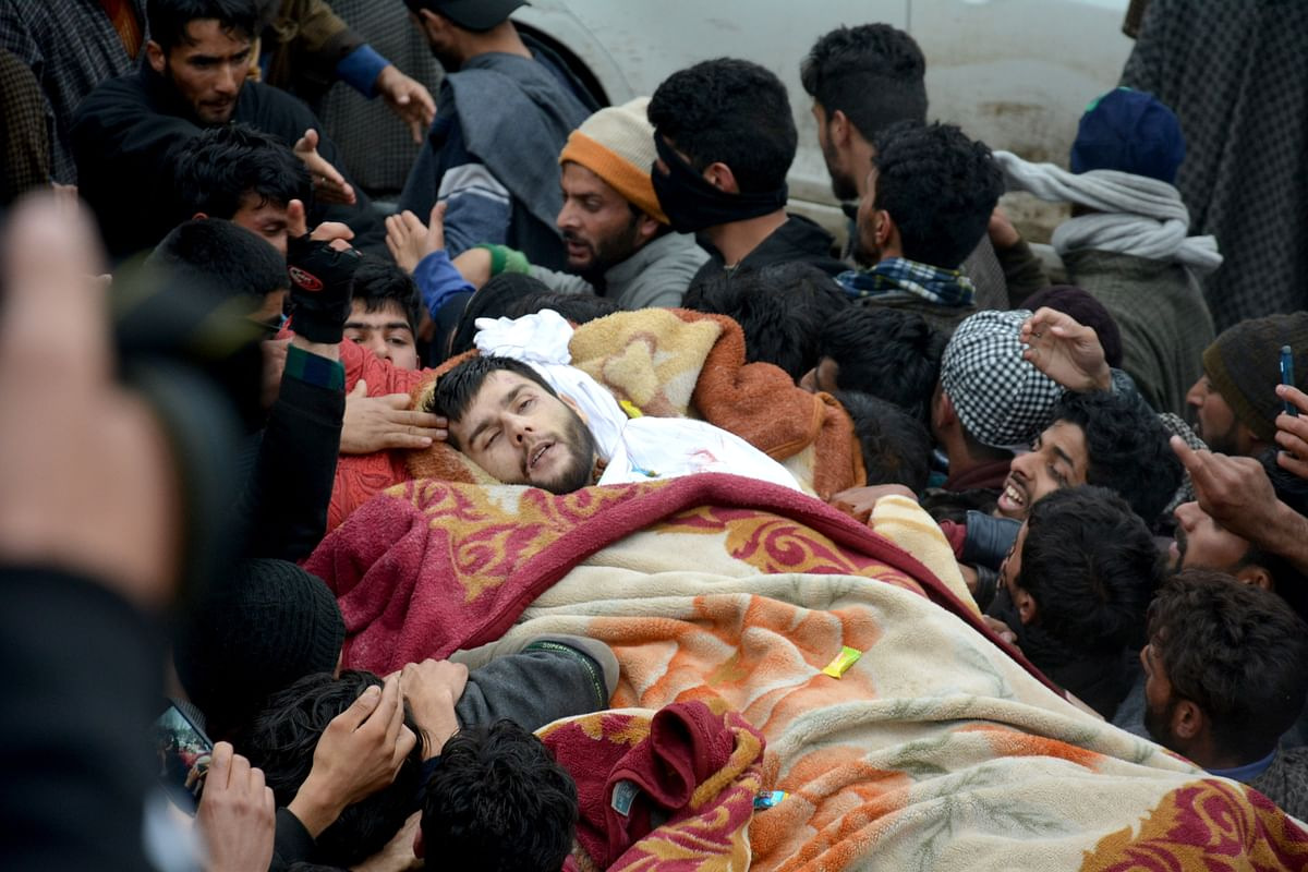 Thousands Attend Funeral Of Slain Hizb In Kulgam