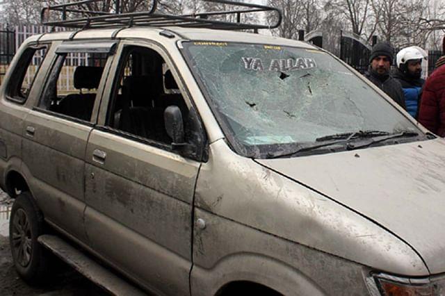 Vehicles of Kashmiri Drivers Damaged in Jammu Mob Attacks