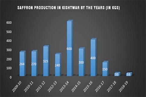 2018: A tough year for Kishtwar saffron producers