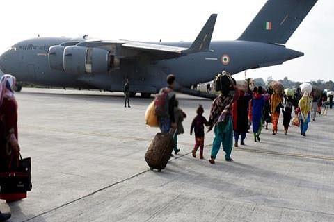 IAF Globemaster airlifts 186 passengers