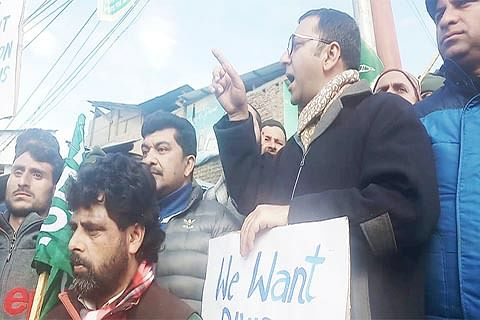 Divisional status to Pir Panchal, Chenab Valley: PDP stages protest in Kishtwar