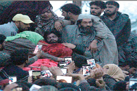 5 militants laid to rest after 16 rounds of funeral prayers