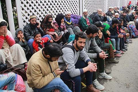 Stranded passengers protest outside Jammu airport