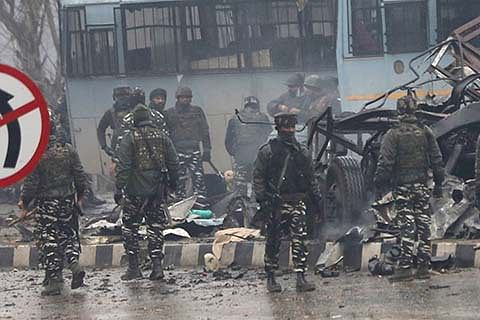 42 CRPF men killed, 38 injured as suicide attacker storms convoy on highway