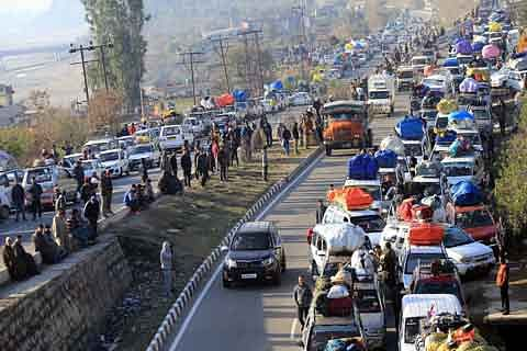 Kashmir highway partially restored
