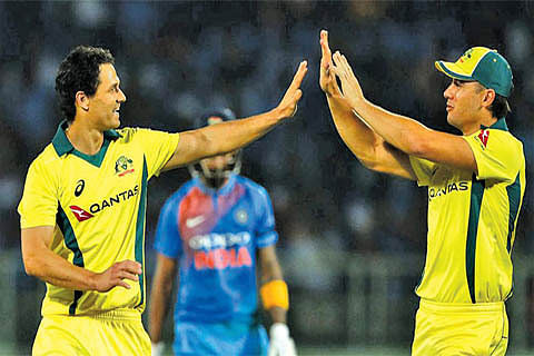 IND VS AUS 1ST T20I: India suffer three-wicket defeat in last-ball thriller