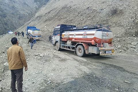 Highway open, but over 300 oil tankers stranded