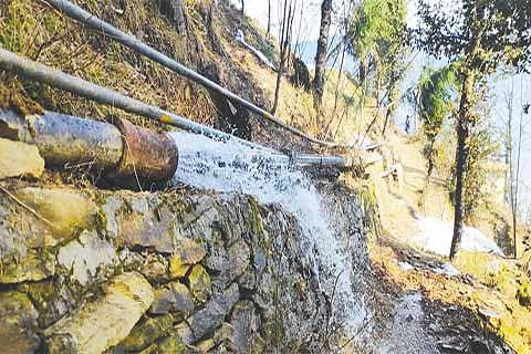 Leaked potable water lines pose landslide threat to Bhadarwah village