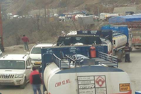 500 fuel tankers stranded on highway