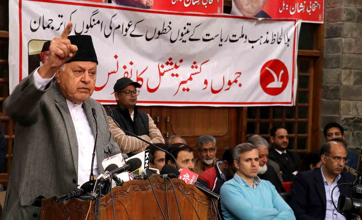 After Omar, Farooq says Delhi creating leaders to 'divide Muslim voice'