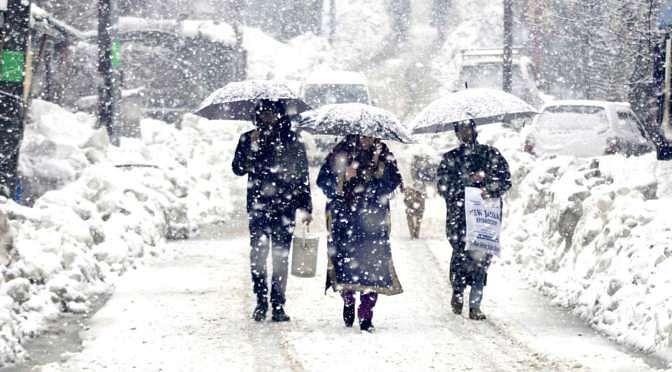 SDRF declares Nov, Dec snowfall as 'Natural Disaster'