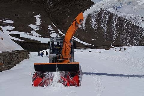 Snow clearance process on Mughal Road reviewed