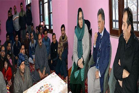 Advisor Ganai visits Pandit Colony Sheikhpora