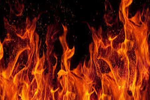 Old building of Shopian district hospital damaged in fire
