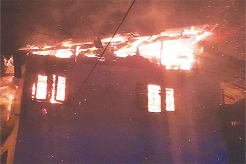 Fire damages house, four shops in north Kashmir's Bandipora
