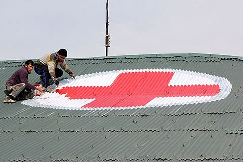 Kashmir hospitals get red-cross signs on rooftops for protection during air-strikes