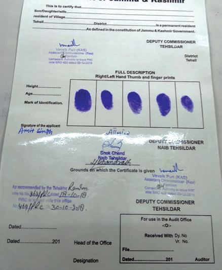 Sans applicant's particulars, signed PRC surfaces on social media