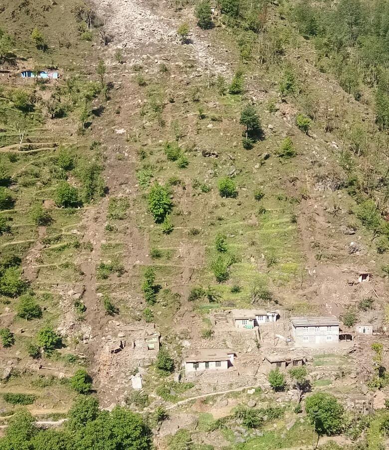 Landslide buries a dozen residential houses in Doda in Jammu and Kashmir