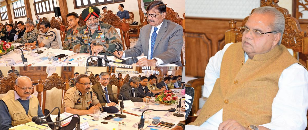 Amarnath Yatra-2019  |Governor chairs high level meet,  reviews security arrangements