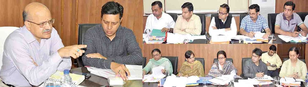 Chief Secy reviews development works in Jammu division