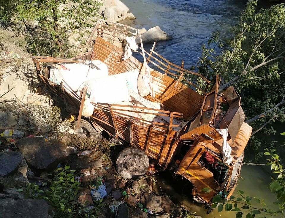 Driver among two injured in truck accident in JK's Doda