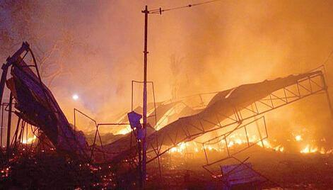 Over two dozen shanties of Rohingya gutted in midnight blaze in Jammu