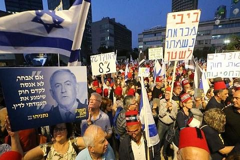 Israelis protest proposed Netanyahu immunity bills