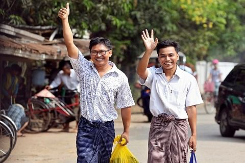 Myanmar frees two Reuters journalists in amnesty