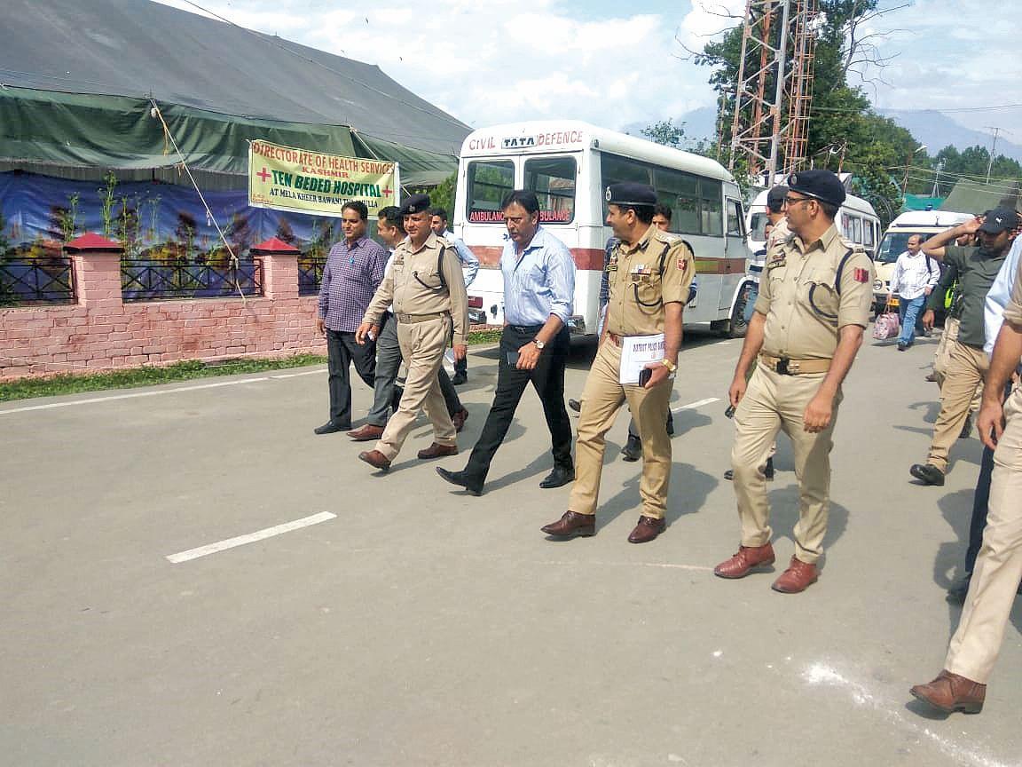 ADGP Khan reviews security arrangements for Kheer Bhawani mela