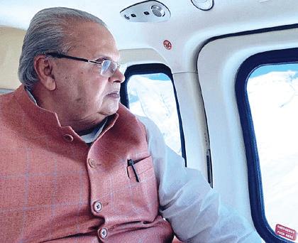 Amarnath Yatra | Governor undertakes aerial survey of Yatra routes