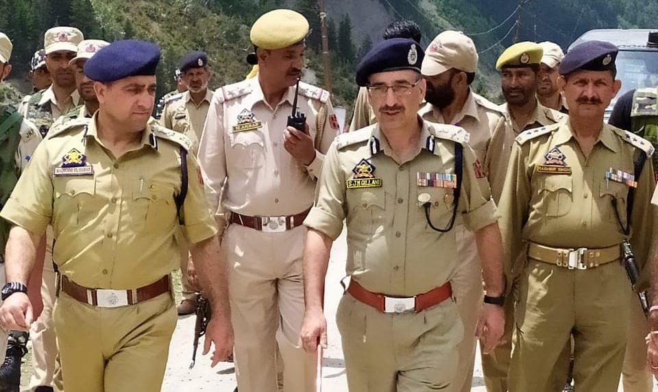 Amarnath Yatra   ADGP Armed takes stock of deployment at Baltal, Nilgrath, Domail