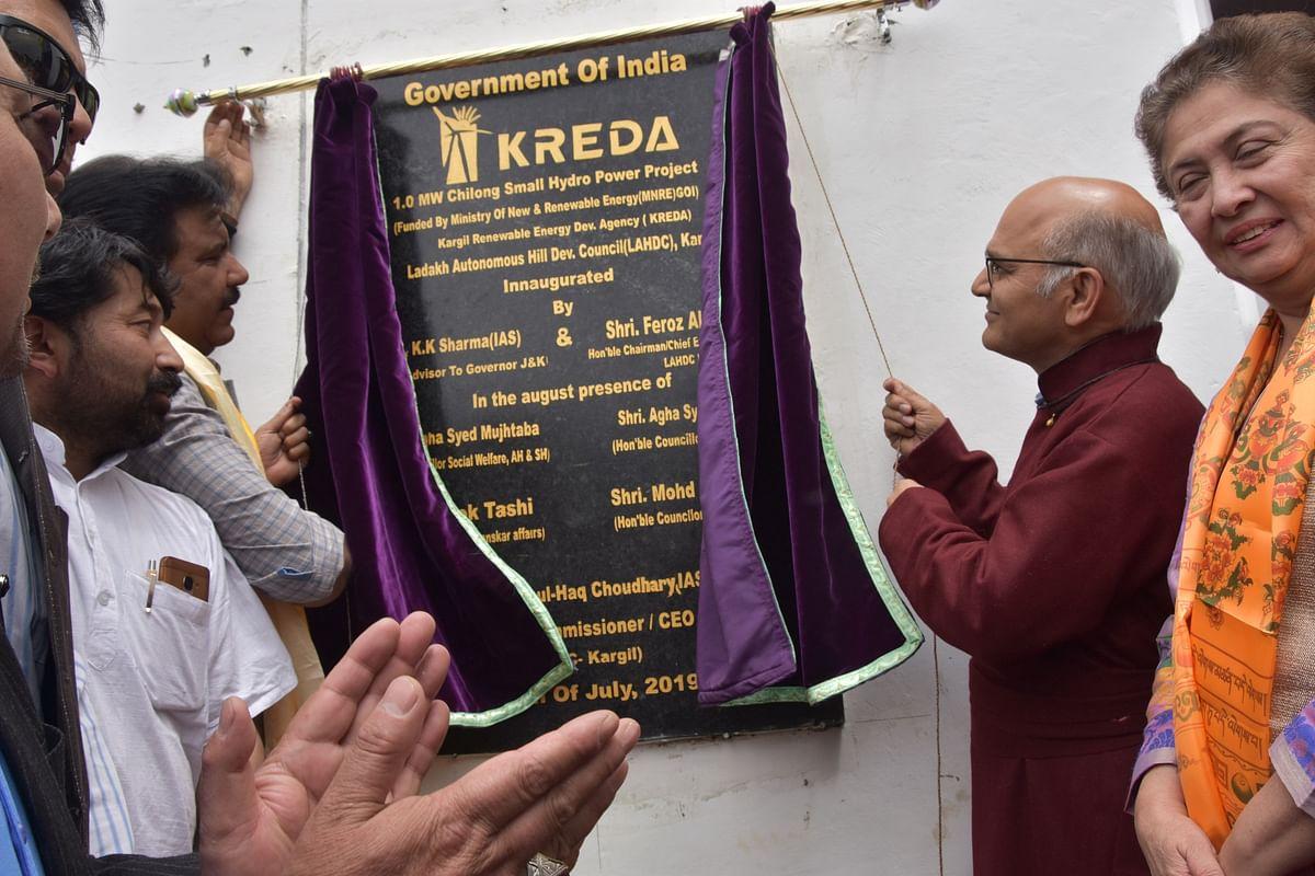 Advisor Sharma inaugurates Chillung Mini Hydel Project in Kargil
