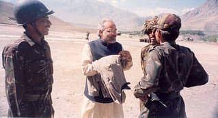 PM shares pictures of visit to Kargil during war