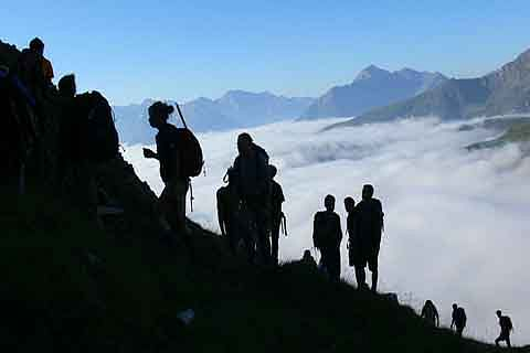 In times of covid19, trekking activities pick up in Kashmir