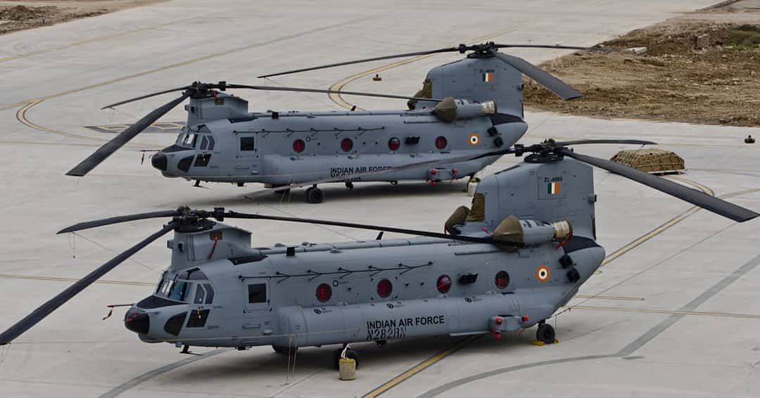 Two new heavy-lift Chinook helicopters for IAF arrive in Gujarat