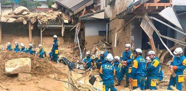 Japanese world heritage site damaged by landslide