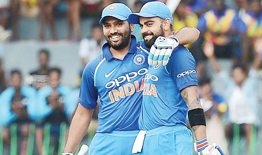 Rohit closes in on his captain Kohli at the top of ICC ODI rankings