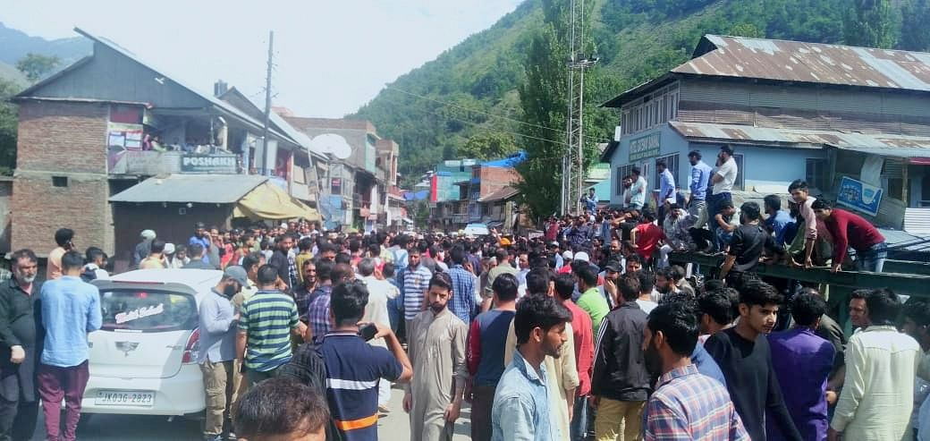 Shutdown, protests in Banihal against mysterious disappearance of goat trader